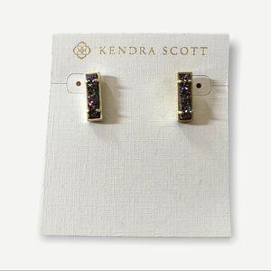 Kendra Scott multicolored druzy gold NWT